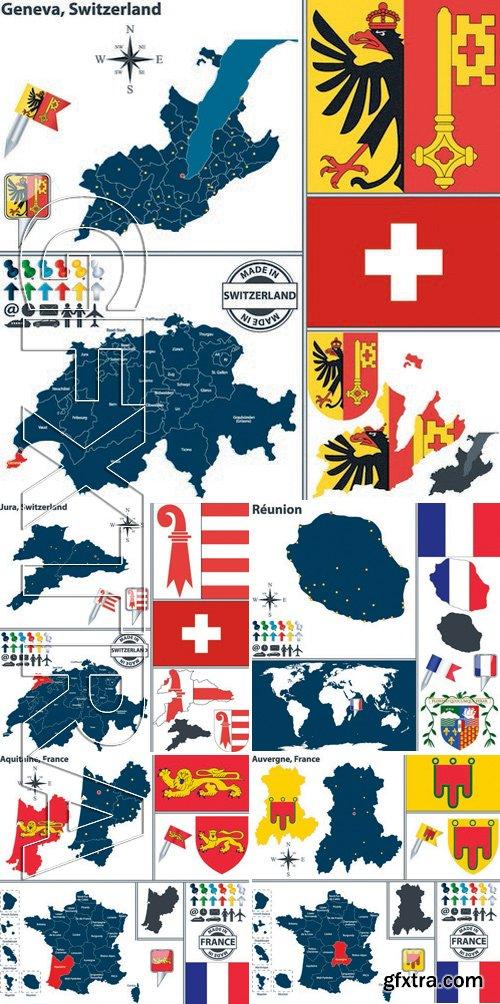 Stock Vectors - World maps