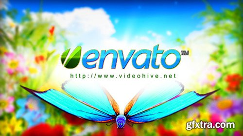Videohive Logo Featuring Butterflies in Natural Environment 8395234