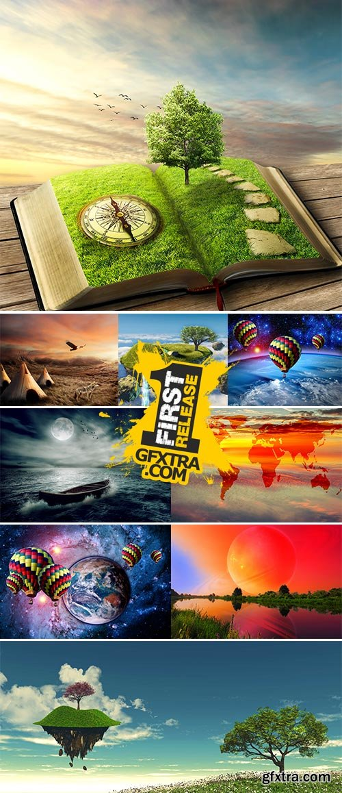 Stock Photo: Landscape fantasy sky earth
