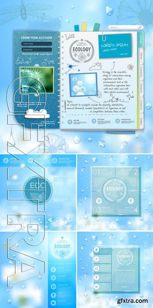 Stock Vectors - Ecology template 3