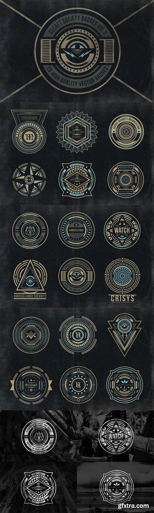 Secret Society Badges 3 - CM 37331
