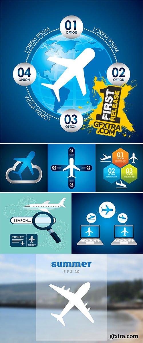 Vector Stock Airplane concept design, vector illustration graphic