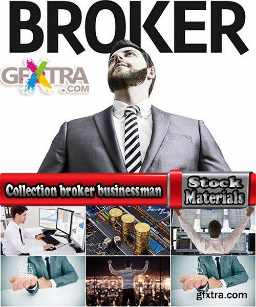 Collection broker businessman stock exchange trading 25 HQ Jpeg