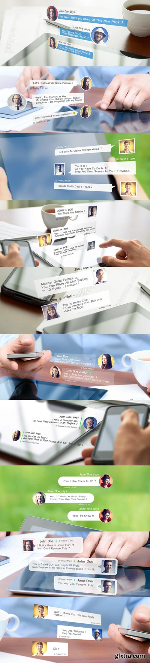 Videohive Chat Messages Pack 10793935