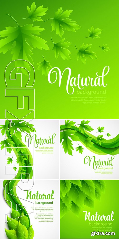 Stock Vectors - Natural Vector Background With Green Spring Leaves