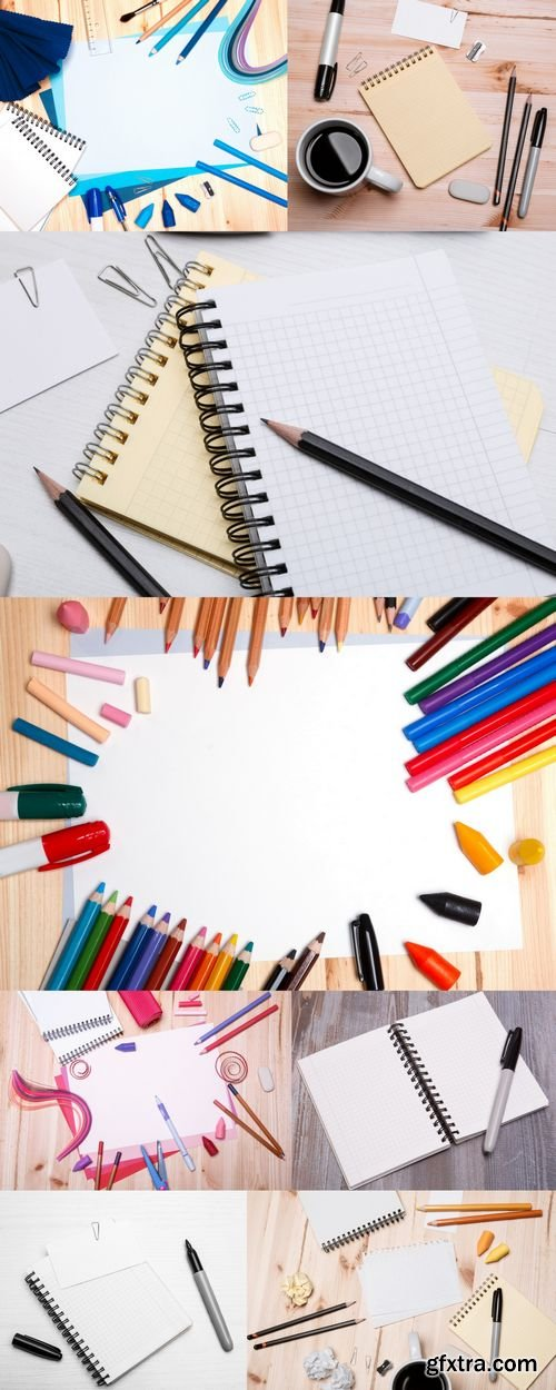 Stock Photos - Office & Drawing Equipment with Blank