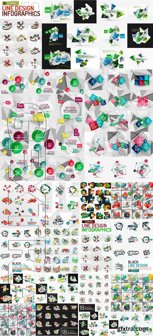 Stock Vectors - Vector Mega Set Of Modern Business Infographic Templates