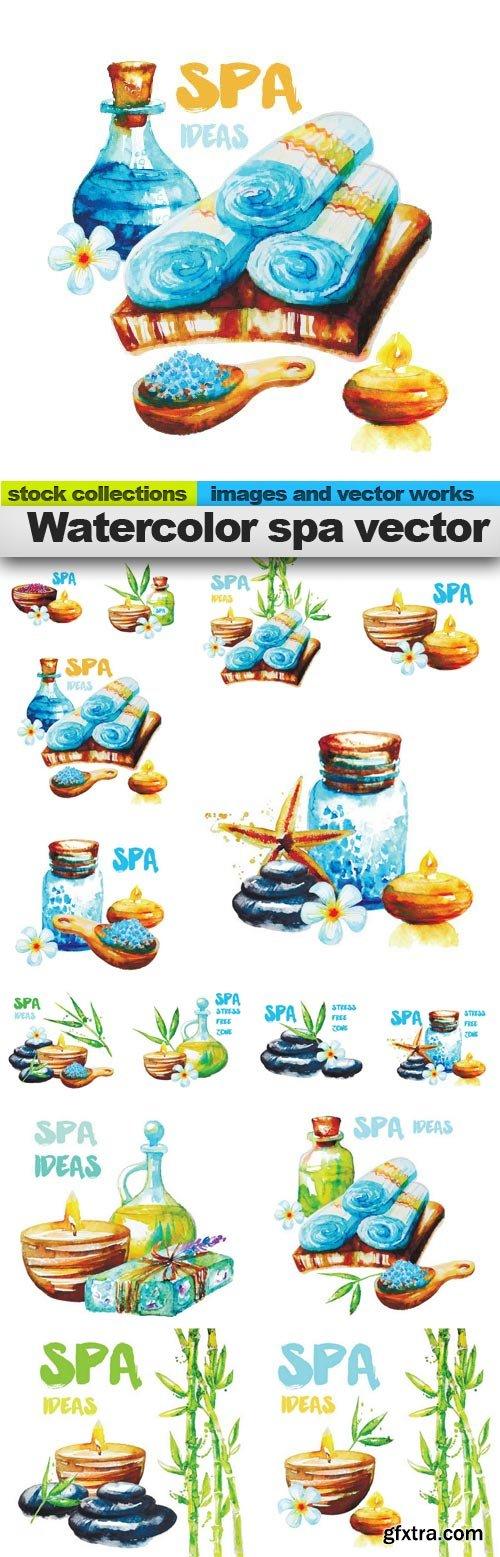 Watercolor spa vector, 15 x EPS
