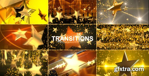 Videohive Gold Star Transitions Pack 7709868