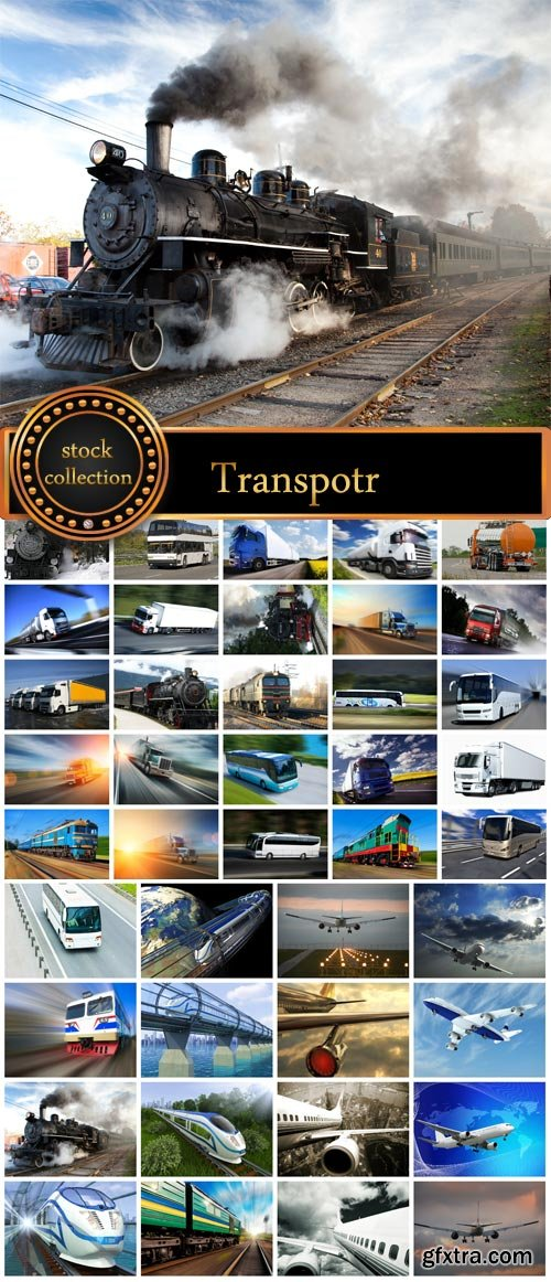 Vehicles, Aircraft, Train, Road Transport 50xJPG