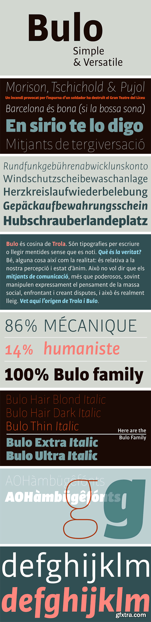 Bulo Font Family