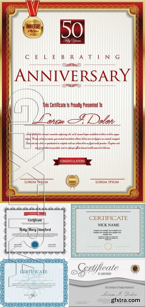 Stock Vectors - Certificate Template 15