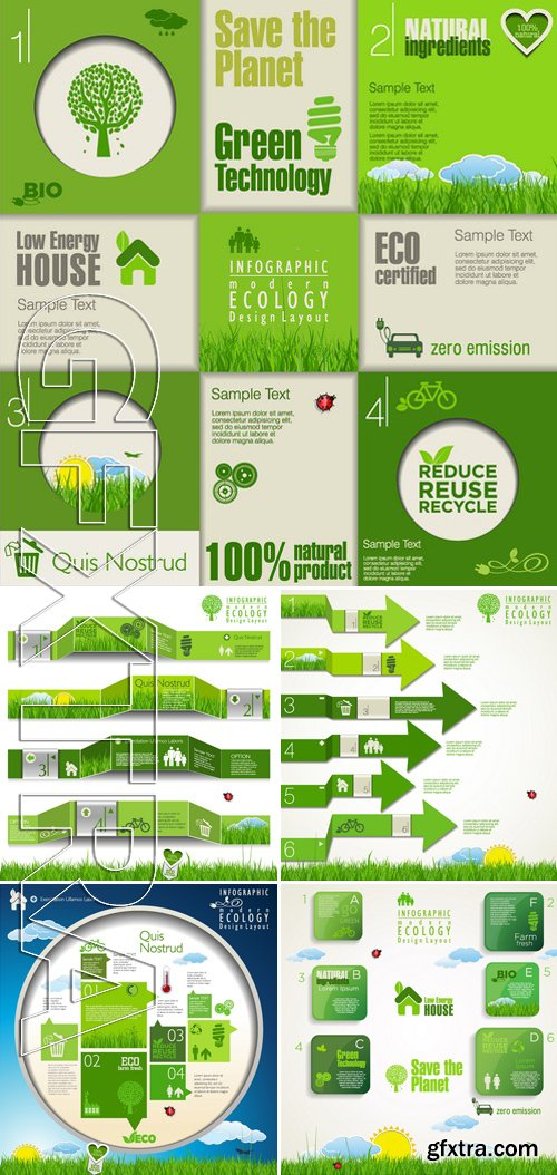 Stock Vectors - Ecology template 4