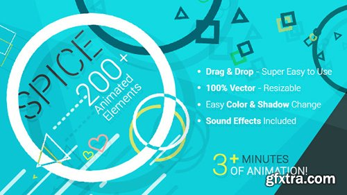 Videohive SPICE - 200+ Animated Elements 10906735 (Sound Effects Included)