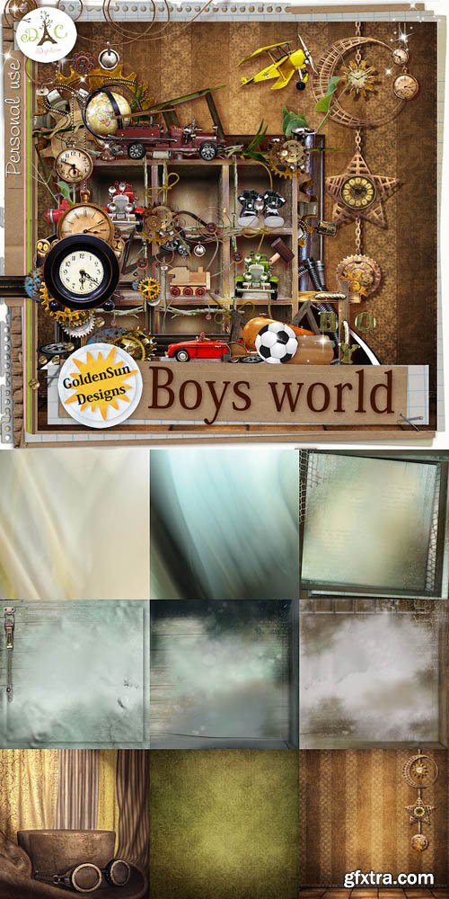 Scrap - Boys World JPG and PNG