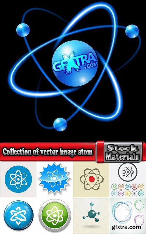 Collection of vector image atom molecule molecular physics Us 25 Eps