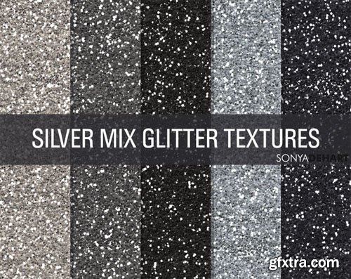 CM - Mixed Silver Glitter Textures 1808