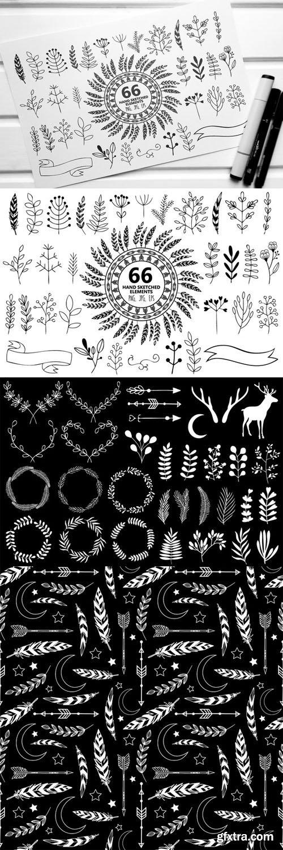 CM - 66 Hand Sketched Elements for Design 158110
