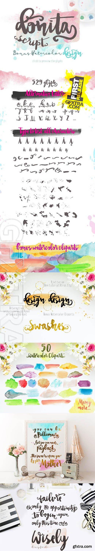 Donita Script with Bonus Watercolor - CM 243970