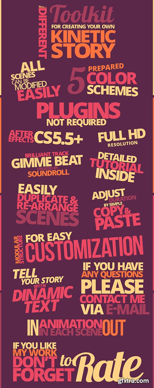 Videohive Kinetic Typography Pack 10997449
