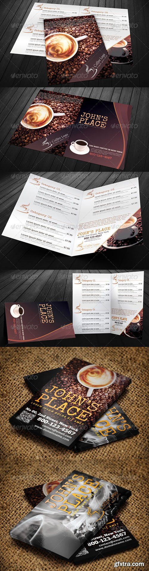 GraphicRiver Food Menu Bundle with Business Card 6317919