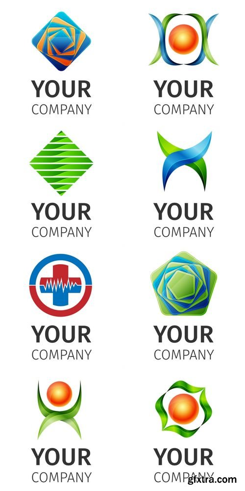 Corporate, Media, Technology Abstract Vector Logo Template
