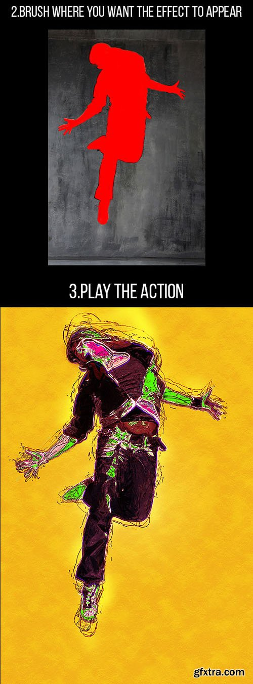 GraphicRiver: Abstract Painting Photoshop Action 11067430
