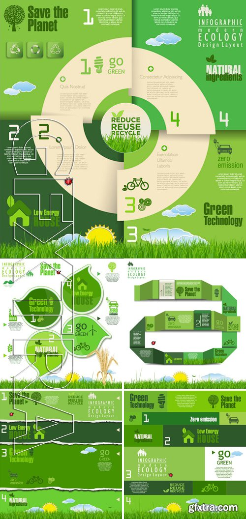 Stock Vectors - Ecology template 5