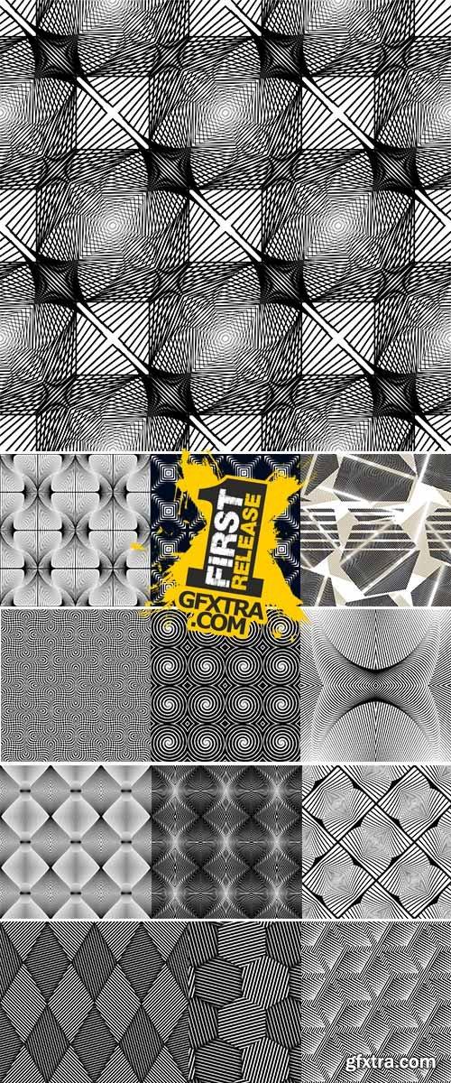 Vector Stock Design seamless monochrome diamond geometric pattern