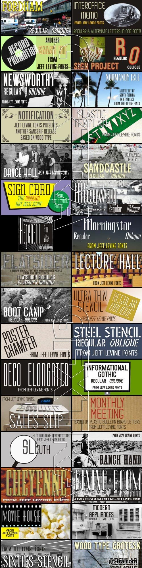 Jeff Levine's Condenced Tall Font Collection 142 Fonts $3550