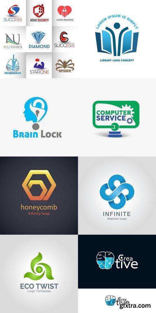 Corporate Vector Logo Template Set