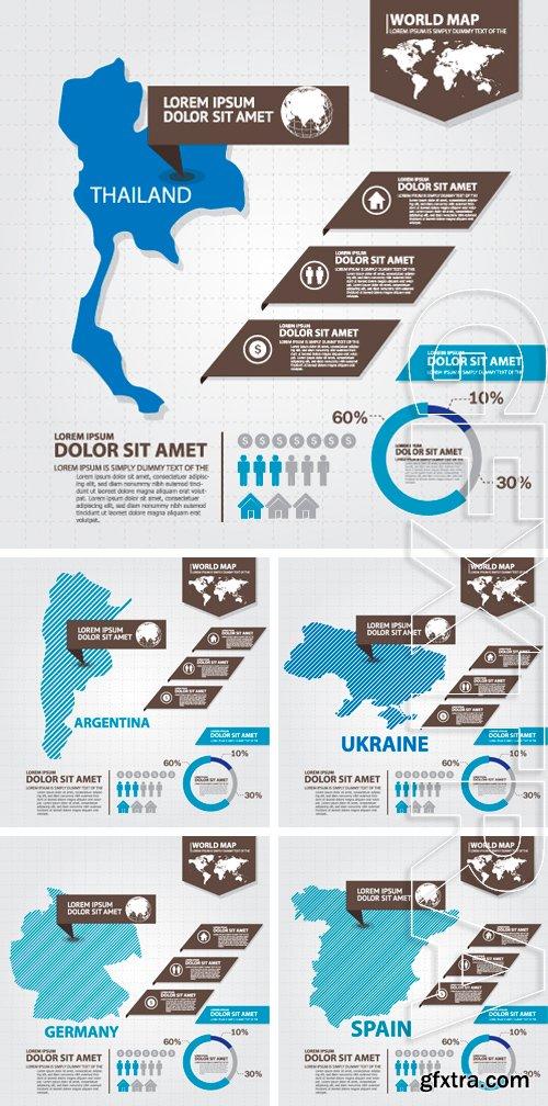 Stock Vectors - Map infographic