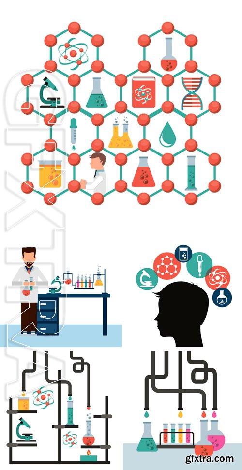 Stock Vectors - Scientific laboratory design, vector illustration