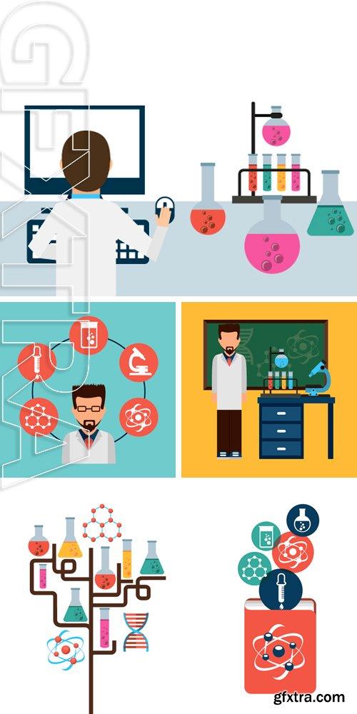 Stock Vectors - Scientific laboratory design