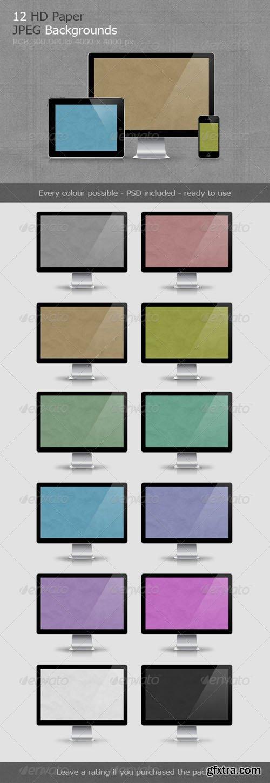 12 Paper Backgrounds V.1 - Graphicriver 6418617