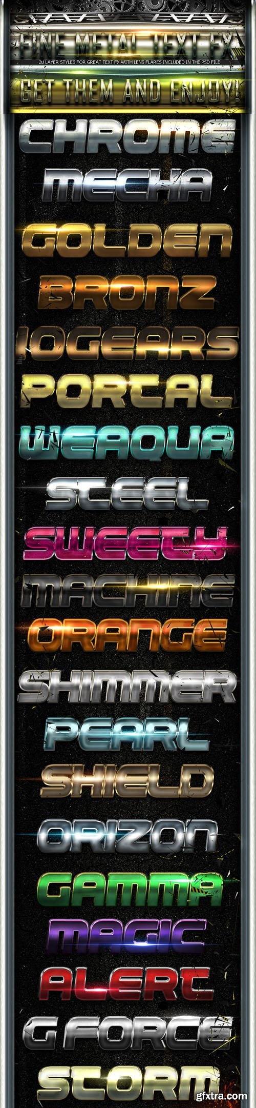 Fine Metal Text FX - Graphicriver 3010326