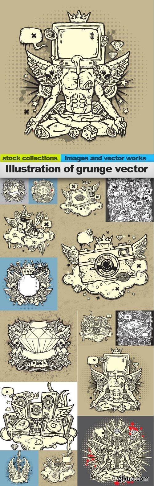 Illustration of grunge vector, 15 x EPS
