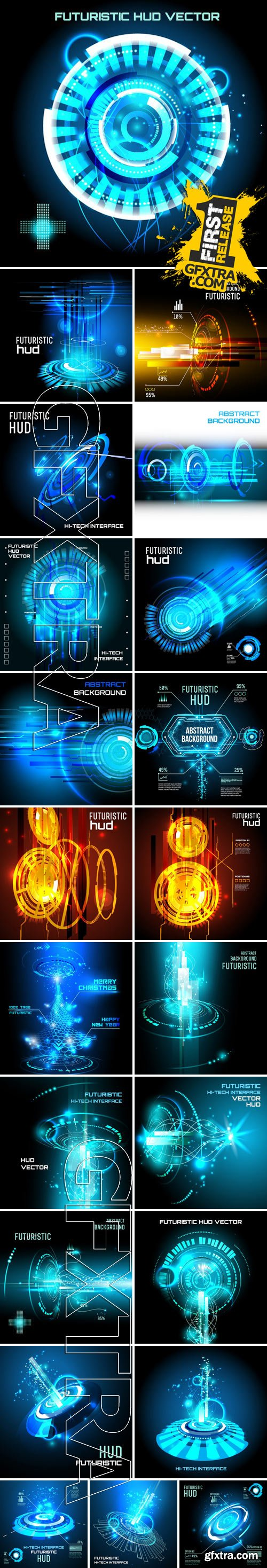 Stock Vectors - Abstract Technological futuristic backgrounds 7
