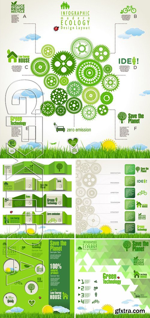 Stock Vectors - Ecology template 6