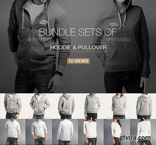 GraphicRiver Hoodie / Pullover Bundle Mock up 10997915