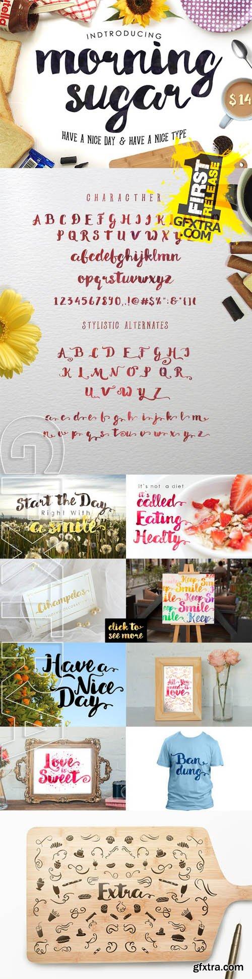 Morning Sugar Typeface + Extra ! - CM 248359