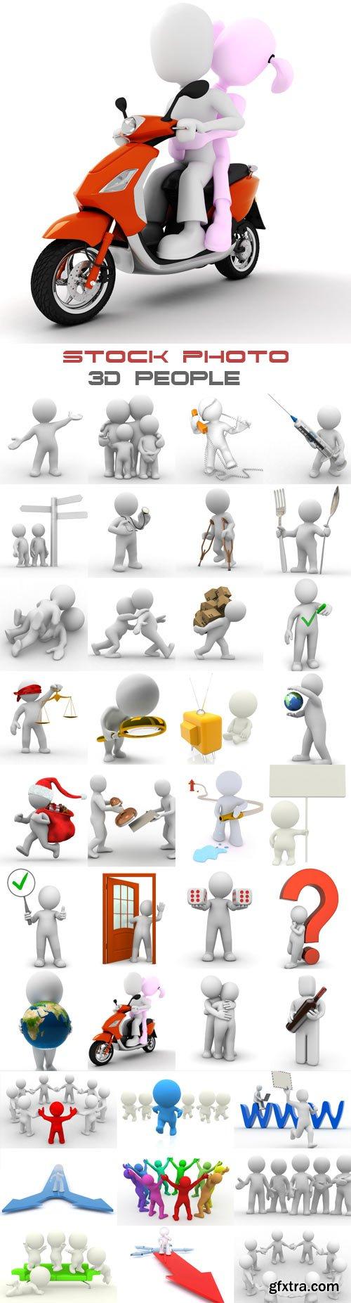 3D people raster graphics