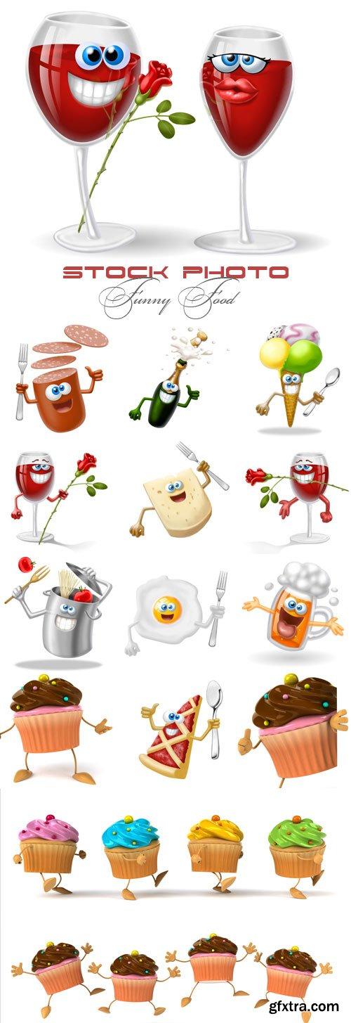 Funny Food raster graphics