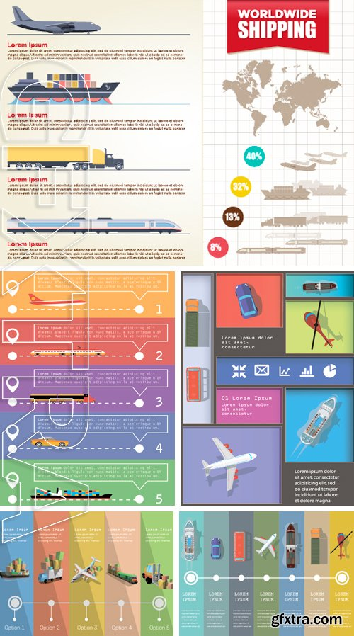 Stock Vectors - Brochure Cover Transportation