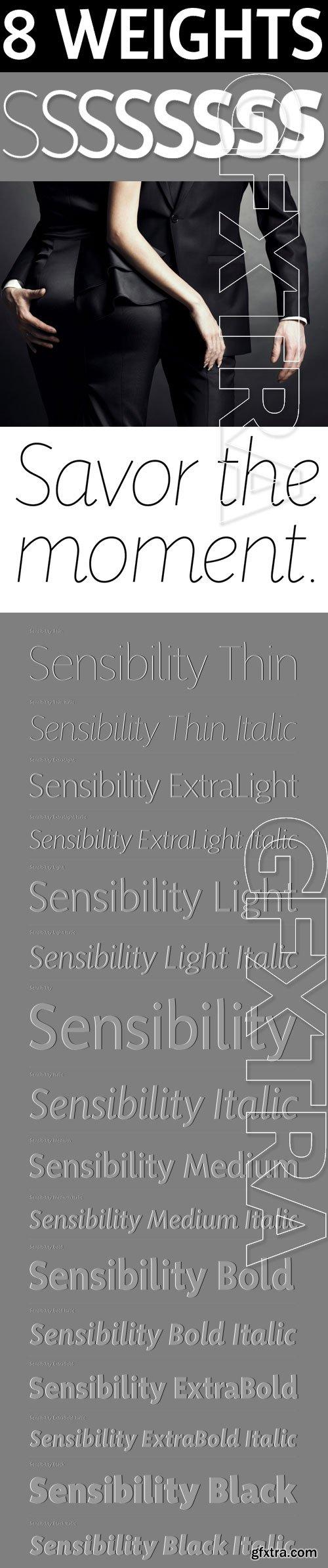 Sensibility - Humanist Sans Serif Font Family 16xOTF $149