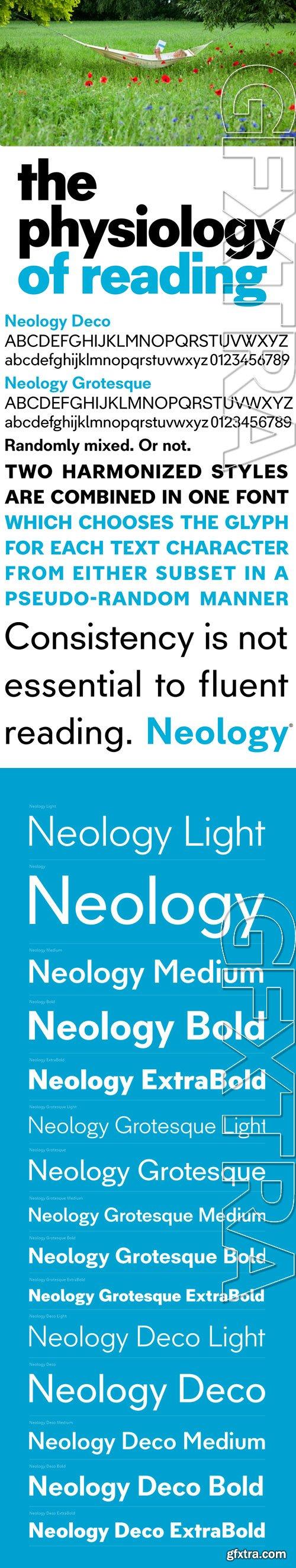 Neology - Designed for Fluent Reading 15xOTF $199