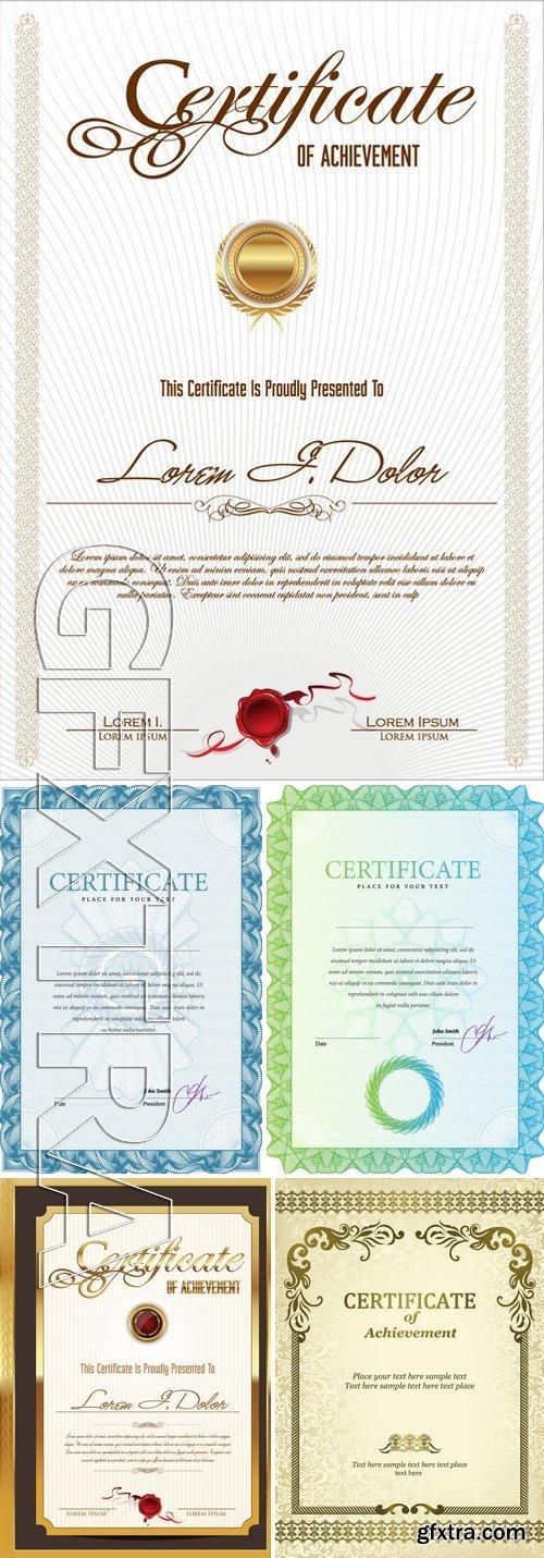 Stock Vectors - Certificate Template 17