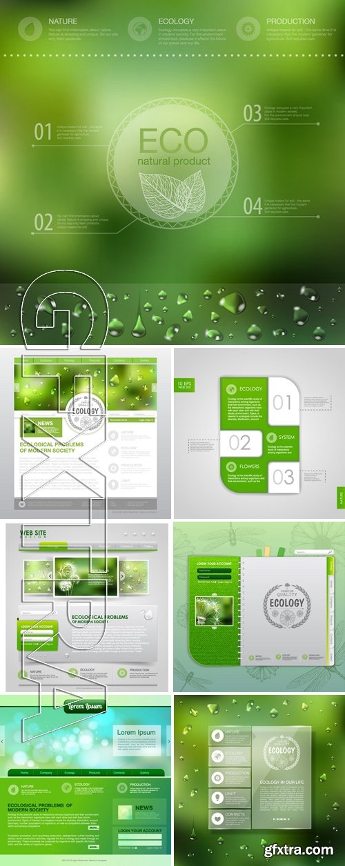 Stock Vectors - Ecology template 7