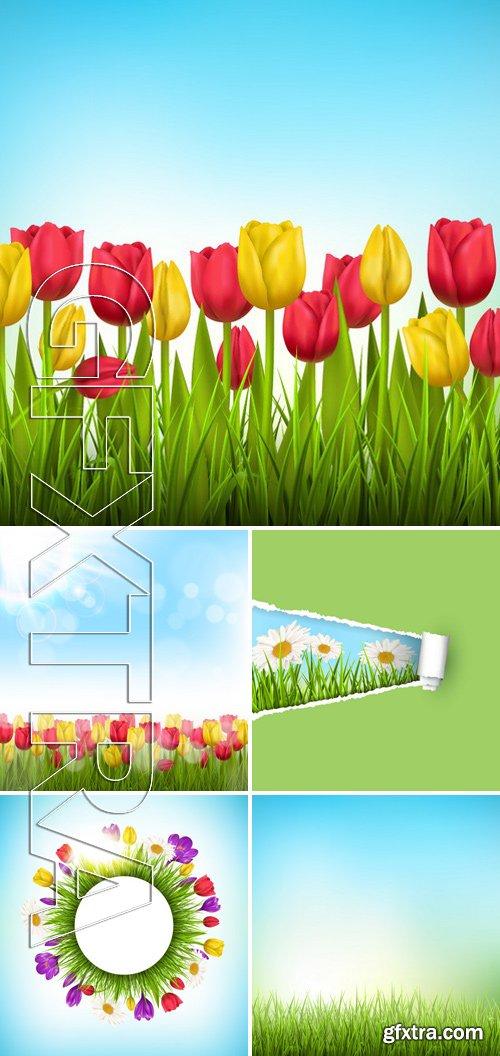Stock Vectors - Floral nature flower background