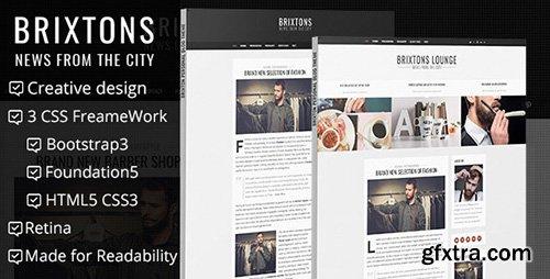 ThemeForest - Brixton - Minimal & Personal HTML Blog Template - RIP